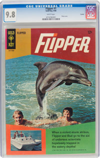 Flipper #1 Curator Pedigree (Gold Key, 1966) CGC NM/MT 9.8 White pages