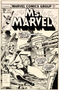 Original Comic Art:Covers, Dave Cockrum and Terry Austin Ms. Marvel #17 Cover Original Art (Marvel, 1978)....