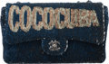 """Luxury Accessories:Bags, Chanel Limited Edition Blue Sequin Coco Cuba Medium Single Flap Bag. Condition: 1. 10"""" Width x 6.5"""" Height x 3"""" Depth..."""