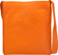 "Luxury Accessories:Bags, Hermès Orange H Agneau Leather Crossbody. Condition: 2. 8"" Width x 9"" Height x 1"" Depth . ..."