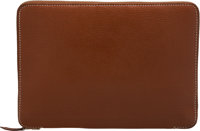 "Hermès Noisette Mysore Globe Trotter Zip Agenda Cover with Palladium Hardware Condition: 2 6"" Width x 8""..."