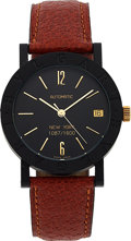 "Timepieces:Wristwatch, Bvlgari, Carbon Gold ""New York"" Automatic, No. 1087/1600. ..."