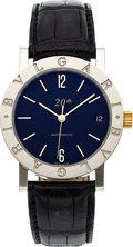 Timepieces:Wristwatch, Bvlgari, Limited Edition 20th Anniversary Automatic, No. 1290/1500. ...