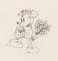 Animation Art:Production Drawing, Puppy Love Mickey Mouse Animation Drawing (Walt Disney, 1933).. ...