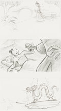 Animation Art:Production Drawing, Mulan Original Storyboard Animation Art (Walt Disney, 1998).. ...