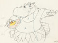 Animation Art:Production Drawing, Fantasia Hyacinth Hippo Animation Drawing (Walt Disney, 1940)....