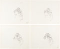 Animation Art:Production Drawing, Lady and the Tramp Tony Animation Drawing Group (Walt Disney, 1955).... (Total: 4 )