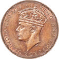 Hong Kong : British Colony. George VI Cent 1941 MS64 Brown PCGS
