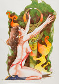 "Original Comic Art:Illustrations, José ""Pepe"" Gonzalez - Vampirella Illustration Original Art (1982)...."