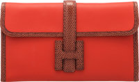 "Hermès Capucine Swift Leather & Etrusque Lizard Jige Duo Wallet T, 2015 Condition: 1 8.5"" Width x 5&..."