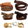 Luxury Accessories:Accessories, Set of Seven: Kieselstein-Cord Belt Straps, Belt Buckles & Hermès Belt Buckle. Condition: 3. See Extended Condition Re... (Total: 7 )