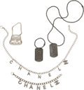 Luxury Accessories:Accessories, Chanel Set of 5: Silver Necklaces, Charms, and Bracelet. Condition: 2. See Extended Condition Report for Sizes.... ... (Total: 5 )