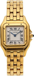 Timepieces:Wristwatch, Cartier, Lady's 18k Gold Panthere. ...