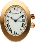 Timepieces:Clocks, Cartier, Small Travel Alarm Clock, circa 2005. ...