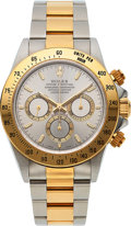 Timepieces:Wristwatch, Rolex, Very Fine Cosmograph Daytona, Ref. 16523, Steel and Gold, Full Set, Circa 1998. ...