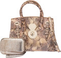 Luxury Accessories:Bags, Ralph Lauren Set of 2: Python Ricky Bag and Python Clutch. Condition: 3. See Extended Condition Report for Sizes...... (Total: 2 )