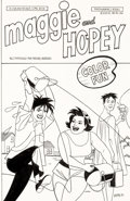Original Comic Art:Covers, Jamie Hernandez Maggie and Hopey Color Special #1 Cover Original Art (Fantagraphics, 1997)....