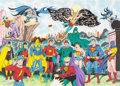 Original Comic Art:Paintings, Sheldon Moldoff Justice Society of America Illustration Original Art (1996)....