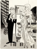 Original Comic Art:Illustrations, Dan DeCarlo Humorama July-1957 Gag Cartoon Illustration Original Art (Timely Features/Humorama, 1957). ...