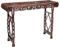 Furniture, A Chinese Carved Hardwood with Mother-of-Pearl Inlaid Altar Table, late 20th century. 41-1/2 x 60 x 16-1/2 inches (105.4 x 1...