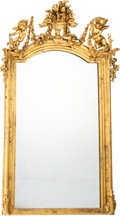 Furniture, A French Carved Gilt Wood Mirror, late 19th century. 75 x 46-1/2 x 7 inches (190.5 x 118.1 x 17.8 cm). ...