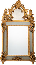 Furniture, A Venetian-Style Carved Gilt Wood Beveled Mirror. 62 x 35-1/2 x 3 inches (157.5 x 90.2 x 7.6 cm). ...