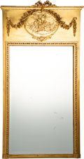 Furniture, A French Beaux Arts Carved And Giltwood Trumeau Mirror, circa 1900. 63 x 33 x 3 inches (160.0 x 83.8 x 7.6 cm). PROPERTY T...
