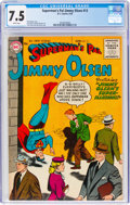 Superman's Pal Jimmy Olsen #13 (DC, 1956) CGC VF- 7.5 White pages