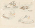 Animation Art:Production Drawing, Polar Trappers Donald Duck Storyboard Original Art by Ferdinand Horvath (Walt Disney, 1938)....