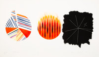 James Rosenquist (1933-2017) Fourneaux, 1978 Etching and aquatint in colors on paper 22-3/4 x 39-7/8 inches (57.8 x 1