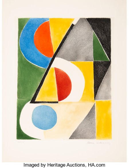 Sonia Delaunay (1885-1979)Untitled, mid-20th centuryEtching in colors on wove paper26 x 20 inches (66 x 50.8 cm) (...