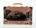 Sculpture, Edward Kienholz (1927-1994). Documenta Suitcase, 1973. Metal Suitcase with screenprint image. 10 x 15-3/4 x 5 inches (25...