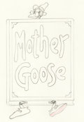 Animation Art:Production Drawing, Mother Goose Melodies Animation Drawing (Walt Disney, 1931)....