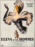 """Movie Posters:Foreign, Elena and Her Men (Cinedis, 1956). Folded, Fine/Very Fine. French Grande (45.75"""" X 62"""") Renee Ferracci Artwork. Foreign.. ..."""