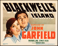 "Blackwell's Island (Warner Brothers, 1939). Very Fine-. Linen Finish Title Lobby Card (11"" X 14""). Crime"