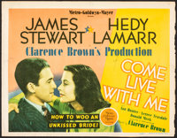 "Come Live with Me (MGM, 1941). Fine. Title Lobby Card (Approx. 11"" X 14""). Comedy"