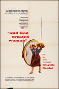 "Movie Posters:Foreign, And God Created Woman (Kingsley International, 1956). Folded, Fine/Very Fine. One Sheet (27"" X 41""). Foreign.. ..."