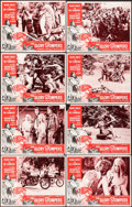 """Movie Posters:Exploitation, The Glory Stompers (American International, 1967). Fine/Very Fine. Lobby Card Set of 8 (11"""" X 14""""). Exploitation.. ... (Total: 8 Items)"""