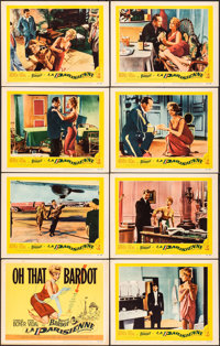"La Parisienne (United Artists, 1958). Overall: Very Fine-. Lobby Card Set of 8 (11"" X 14""). Foreign. ... (Tota..."