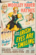 "Movie Posters:Musical, Irish Eyes Are Smiling (20th Century Fox, 1944). Folded, Fine+. One Sheet (27"" X 41""). Musical.. ..."