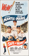 "Movie Posters:Sports, Safe at Home (Columbia, 1962). Very Fine on Linen. Three Sheet (41"" X 78.75). Sports.. ..."