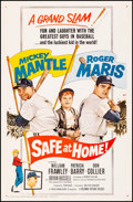"""Movie Posters:Sports, Safe at Home (Columbia, 1962). Fine/Very Fine on Linen. One Sheet (27"""" X 41""""). Sports.. ..."""
