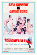 """Movie Posters:James Bond, You Only Live Twice (United Artists, 1967). Fine+ on Linen. One Sheet (27"""" X 41""""). Style C, Robert McGinnis Artwork. James B..."""