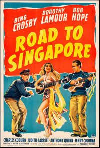 "Road to Singapore (Paramount, 1940). Fine/Very Fine on Linen. One Sheet (27"" X 41""). Comedy"