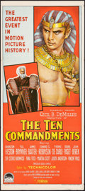 "Movie Posters:Drama, The Ten Commandments (Paramount, 1956/R-1966). Rolled & Folded, Fine/Very Fine. Insert (14"" X 36"") & Australian Daybill (13.... (Total: 2 Items)"
