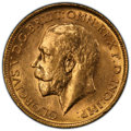 Australia, Australia: George V gold Sovereign 1911-S MS63 PCGS,...