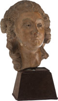 A Terracotta Bust of Madame de Popadour, late 19th century 12 inches (30.5 cm) (excluding stand)