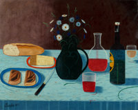 Camille Bombois (French, 1883-1970) Still life Oil on canvas 26 x 32 inches (66.0 x 81.3 cm) S