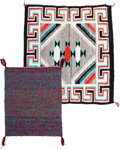 American Indian Art:Weavings, Two Navajo Weavings... (Total: 2 )