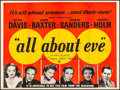 """Movie Posters:Academy Award Winners, All About Eve (20th Century Fox, 1950). Fine on Linen. British Quad (30"""" X 40""""). Academy Award Winners.. ..."""